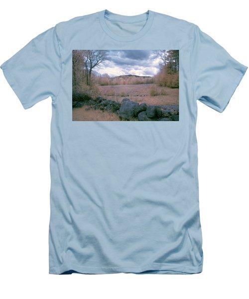 Mount Monadnock In Infrared Men's T-Shirt (Slim Fit) by Tom Singleton