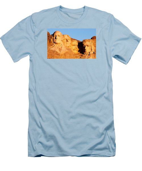 Mount Rushmore Men's T-Shirt (Slim Fit) by Todd Klassy