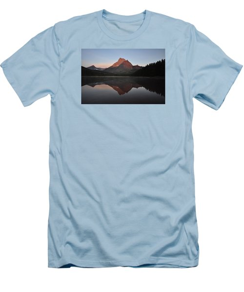 Mount Wilbur, Glacier National Park Men's T-Shirt (Athletic Fit)