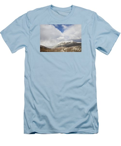 Men's T-Shirt (Slim Fit) featuring the photograph Mountain Clouds And Sun by Michele Cornelius