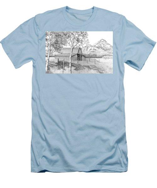 Mountain Pastoral Men's T-Shirt (Slim Fit) by Lawrence Tripoli