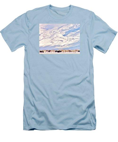 Mountain Snow Men's T-Shirt (Slim Fit) by Marilyn Diaz