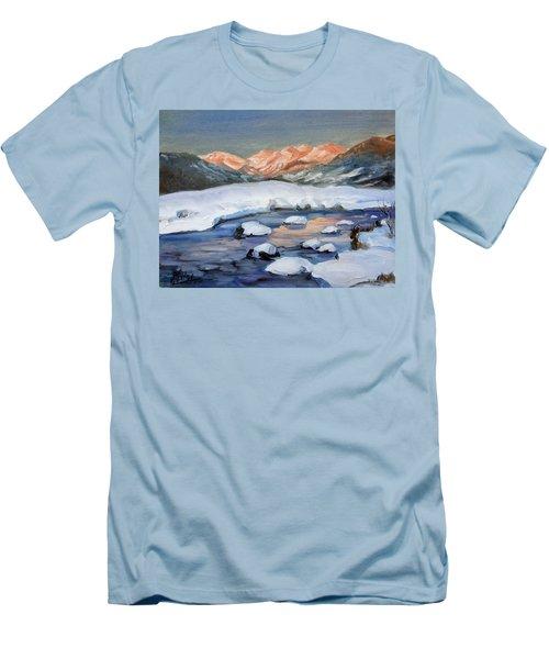 Mountain Winter Landscape 1 Men's T-Shirt (Slim Fit) by Irek Szelag