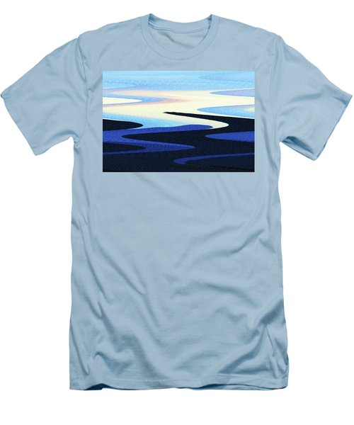 Mountains And Sky Abstract Men's T-Shirt (Slim Fit) by Tom Janca