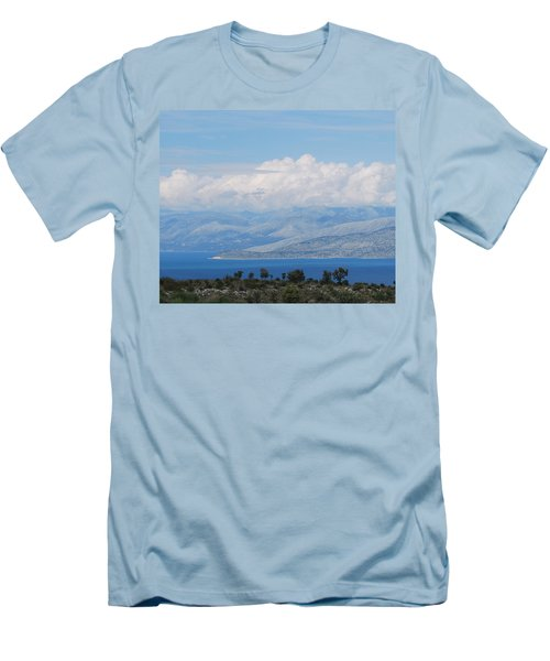 Mountains Far Away  3 Men's T-Shirt (Athletic Fit)