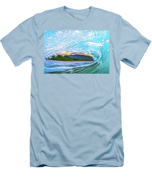 Mountains To The Sea Men's T-Shirt (Slim Fit) by James Roemmling