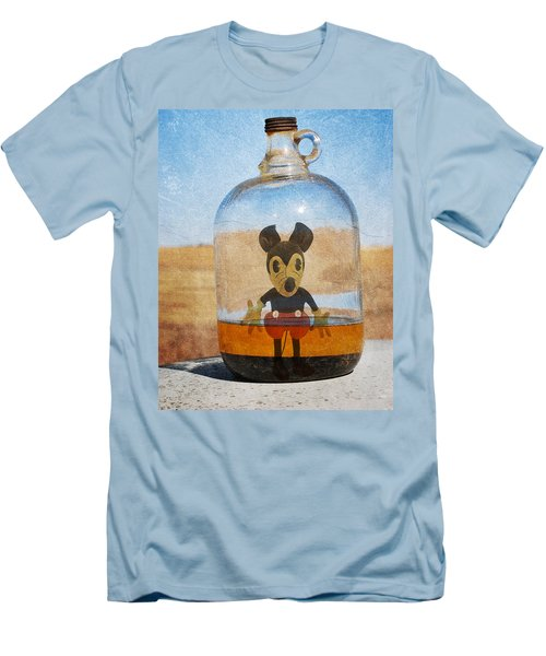 Mouse In A Bottle  Men's T-Shirt (Slim Fit) by Jerry Cordeiro