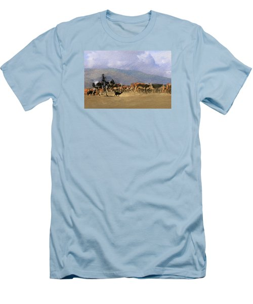 Move Em Out Men's T-Shirt (Slim Fit) by Ed Hall