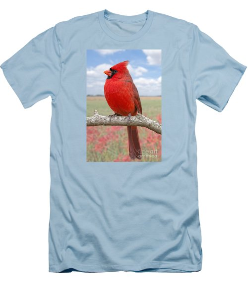 Mr. Cheerful Men's T-Shirt (Slim Fit) by Bonnie Barry