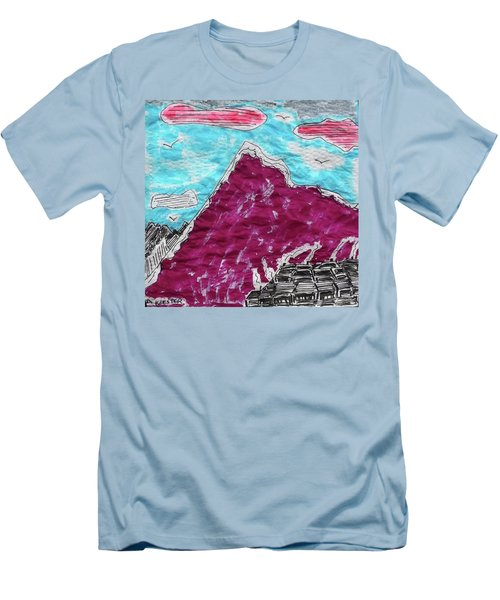 Mt. Fuji Village  Men's T-Shirt (Athletic Fit)