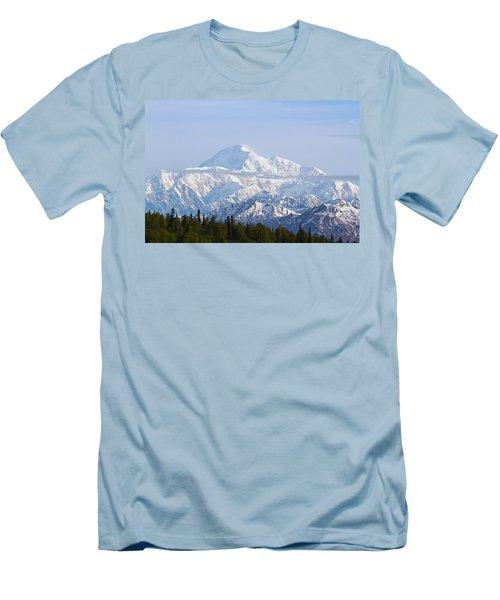 Denali Cloud Line Men's T-Shirt (Slim Fit) by Allan Levin
