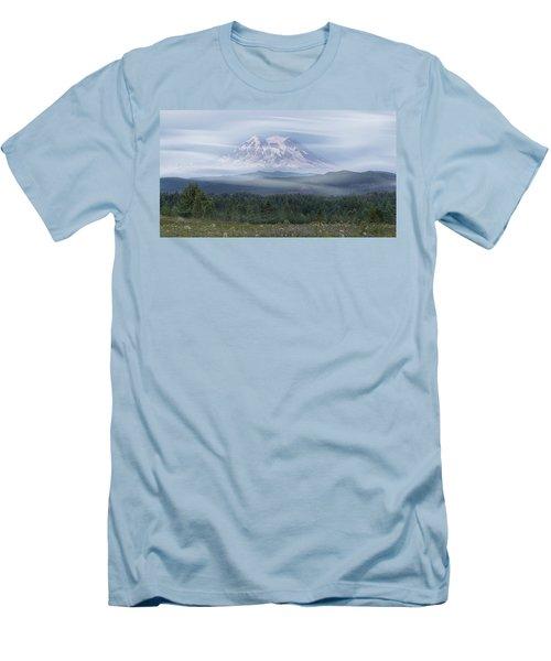 Mt. Rainier Men's T-Shirt (Slim Fit) by Patti Deters