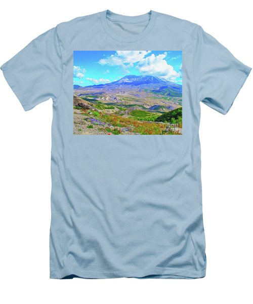 Mt. St. Helens Wildflowers Men's T-Shirt (Athletic Fit)