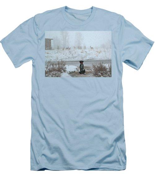 Murphy Watches The Deer Men's T-Shirt (Slim Fit) by Eric Tressler