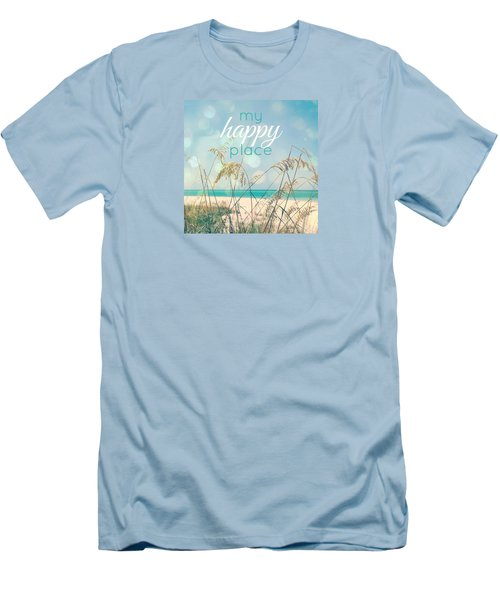 My Happy Place Men's T-Shirt (Slim Fit) by Valerie Reeves