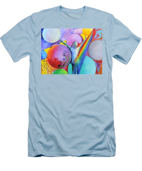 Men's T-Shirt (Slim Fit) featuring the painting My Name Is Love. by Jodie Marie Anne Richardson Traugott          aka jm-ART