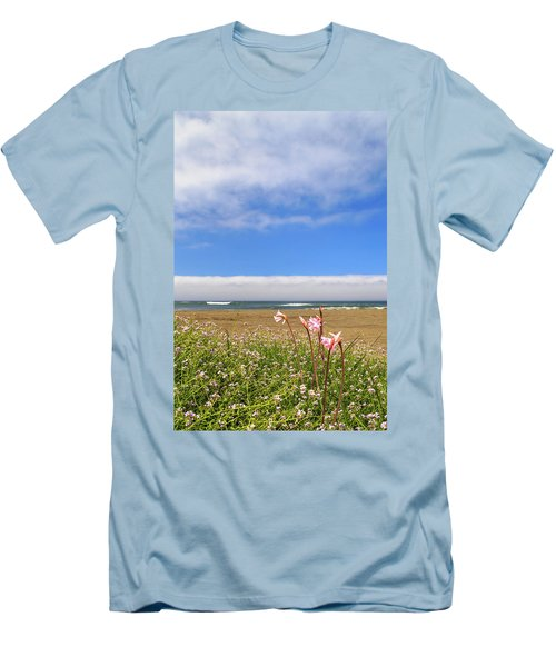 Men's T-Shirt (Athletic Fit) featuring the photograph Naked Ladies At The Beach by James Eddy