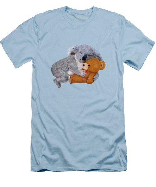 Naptime With Teddy Bear Men's T-Shirt (Slim Fit) by Glenn Holbrook