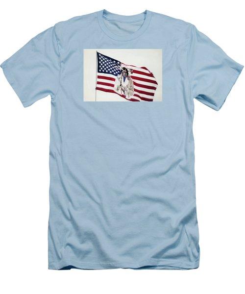 Native American Flag Men's T-Shirt (Slim Fit) by Emanuel Tanjala