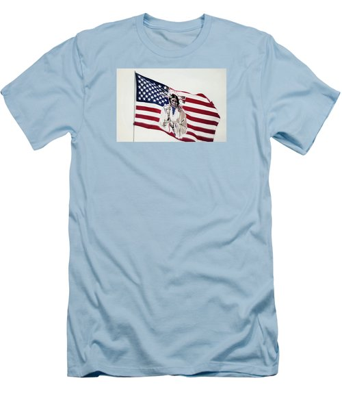 Native American Flag Men's T-Shirt (Slim Fit)