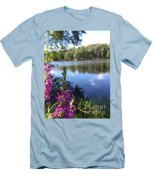 Nature Channelling  Men's T-Shirt (Slim Fit) by Jason Nicholas