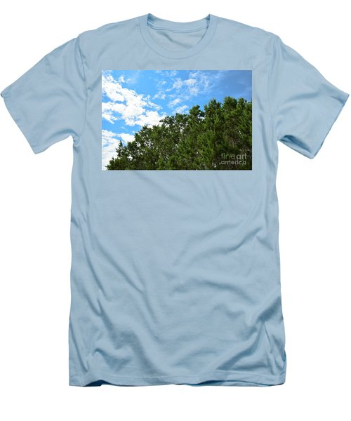 Men's T-Shirt (Slim Fit) featuring the photograph Nature's Beauty - Central Texas by Ray Shrewsberry