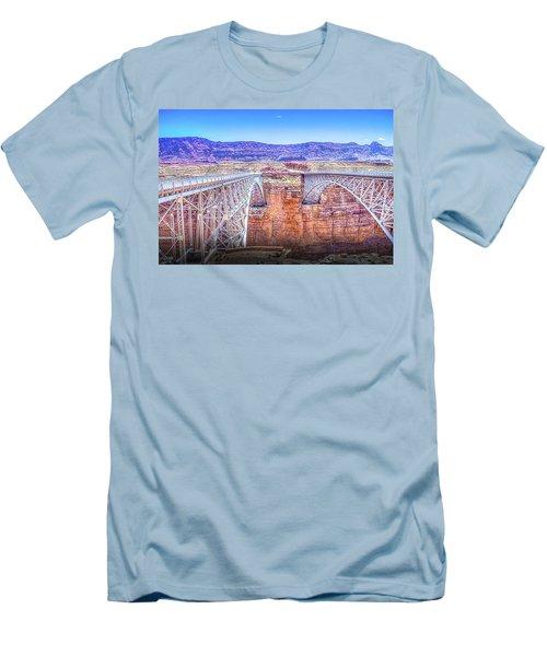 Navajo Bridge Men's T-Shirt (Slim Fit) by Mark Dunton