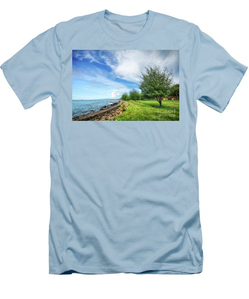 Men's T-Shirt (Slim Fit) featuring the photograph Near The Shore by Charuhas Images