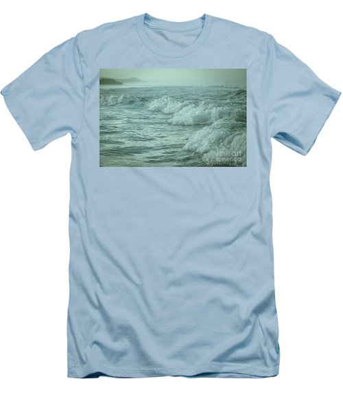 Near Waves Men's T-Shirt (Slim Fit) by Iris Greenwell