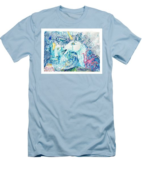 Neptune's Horses Men's T-Shirt (Athletic Fit)