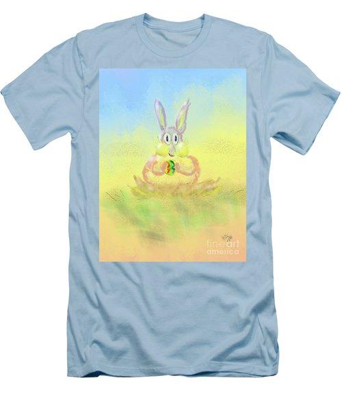 Men's T-Shirt (Slim Fit) featuring the digital art New Beginnings by Lois Bryan