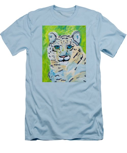 Eyes On You Snow Leopard Men's T-Shirt (Athletic Fit)