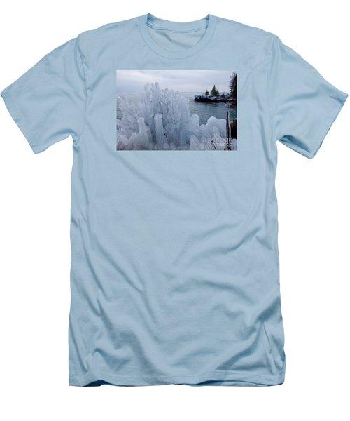 New Ice On Lake Superior Men's T-Shirt (Slim Fit) by Sandra Updyke