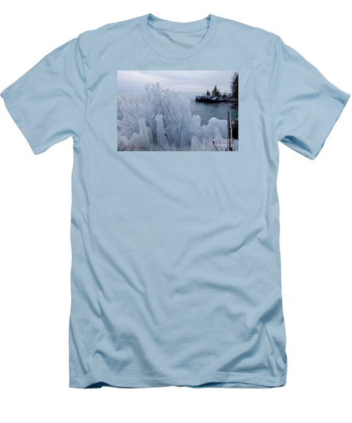 New Ice On Lake Superior Men's T-Shirt (Athletic Fit)