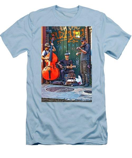 New Orleans Street Musicians Men's T-Shirt (Athletic Fit)