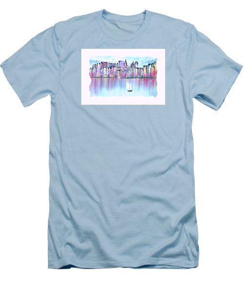 New York City Scape Men's T-Shirt (Athletic Fit)