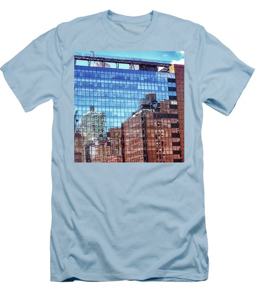 New York City Skyscraper Art 4 Men's T-Shirt (Athletic Fit)