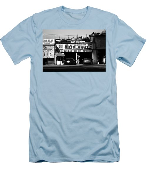 Men's T-Shirt (Slim Fit) featuring the photograph New York Street Photography 69 by Frank Romeo