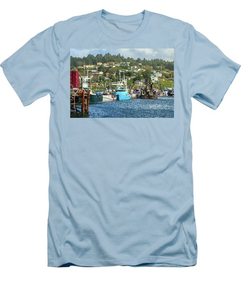 Newport Harbor Men's T-Shirt (Slim Fit) by James Eddy