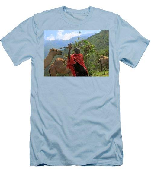 Ngorongoro Herder Men's T-Shirt (Athletic Fit)