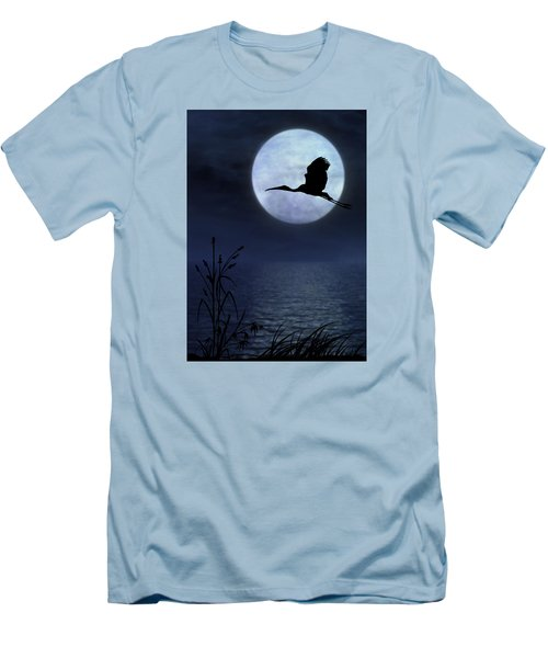Night Flight Men's T-Shirt (Slim Fit) by Christina Lihani