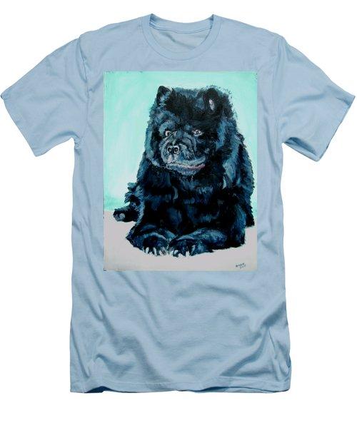 Nikki The Chow Men's T-Shirt (Slim Fit) by Bryan Bustard
