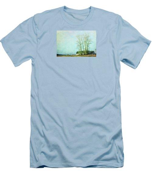 Men's T-Shirt (Slim Fit) featuring the photograph Nisqually Barns by Jean OKeeffe Macro Abundance Art
