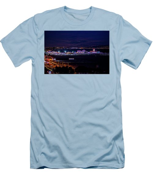 Nite Life On The Pier Men's T-Shirt (Athletic Fit)