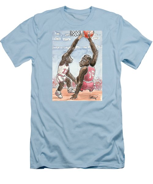 No No No Men's T-Shirt (Slim Fit) by George I Perez