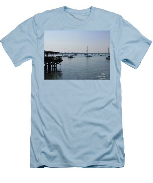 Men's T-Shirt (Slim Fit) featuring the photograph No Wind by Greg Patzer