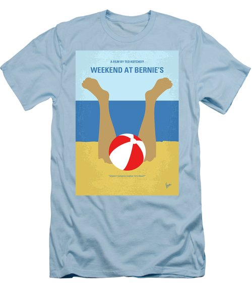 Men's T-Shirt (Slim Fit) featuring the digital art No765 My Weekend At Bernies Minimal Movie Poster by Chungkong Art
