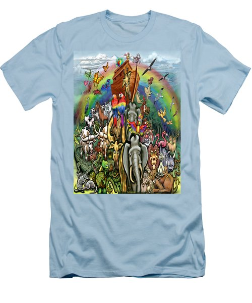 Noah's Ark Men's T-Shirt (Slim Fit) by Kevin Middleton