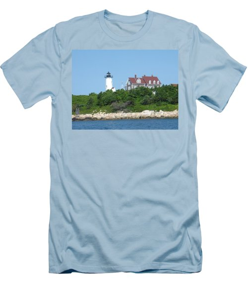 Nobska Point Lighthouse Men's T-Shirt (Slim Fit) by Donna Walsh