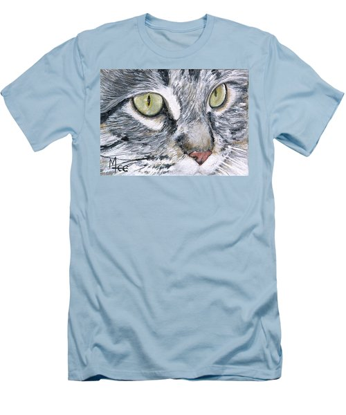 Men's T-Shirt (Slim Fit) featuring the painting Noel by Mary-Lee Sanders